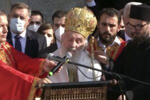 Сахрањен митрополит Амфилохије