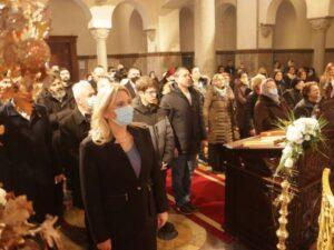 Цвијановић присуствовала литургији у Храму Христа Спаситеља