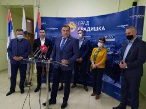 Додик у Градишци: Најављена реконструкција два магистрална пута