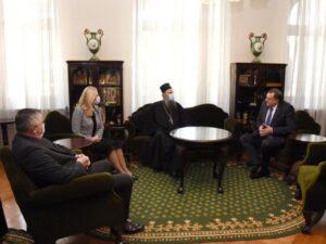 Цвијановић, Додик и Вишковић на пријему код патријарха