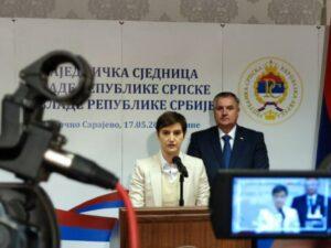 Брнабић: Честитке Српској за раст БДП-а и успјешан излазак на Лондонску берзу