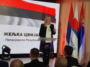Цвијановић дала подршку Народној партији Српске